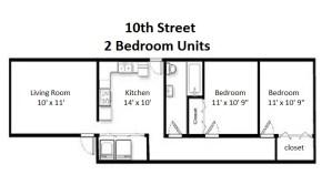 Two Bedroom Standard Style – Ground Floor (#02)