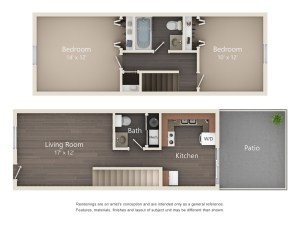 Two Bedroom Designer Series Townhome (#45)