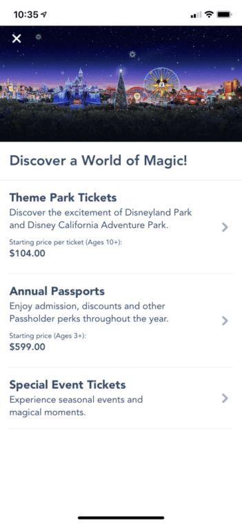 Can Disneyland Tickets Be Purchased On The App?