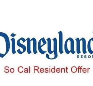 So. California Resident Disneyland Ticket