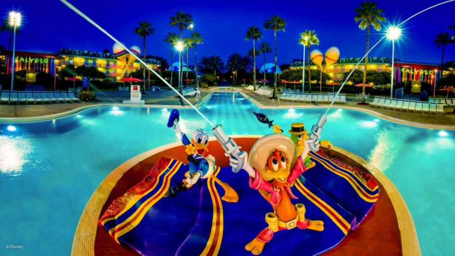 Pool featuring Disney characters