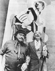 "Yaacov Agam and Salvador Dali Photo courtesy of ""Agam: Beyond the Visible"" by Sayako Aragaki"