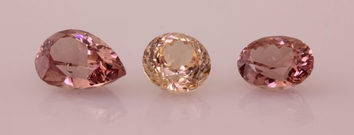 3 Lotus Garnet gemstones