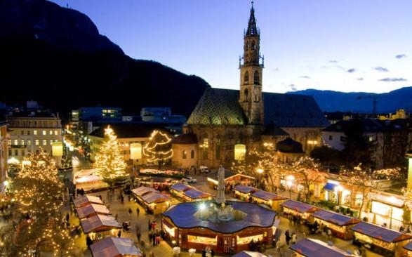 Il mercatino natalizio di piazza Walther di Bolzano