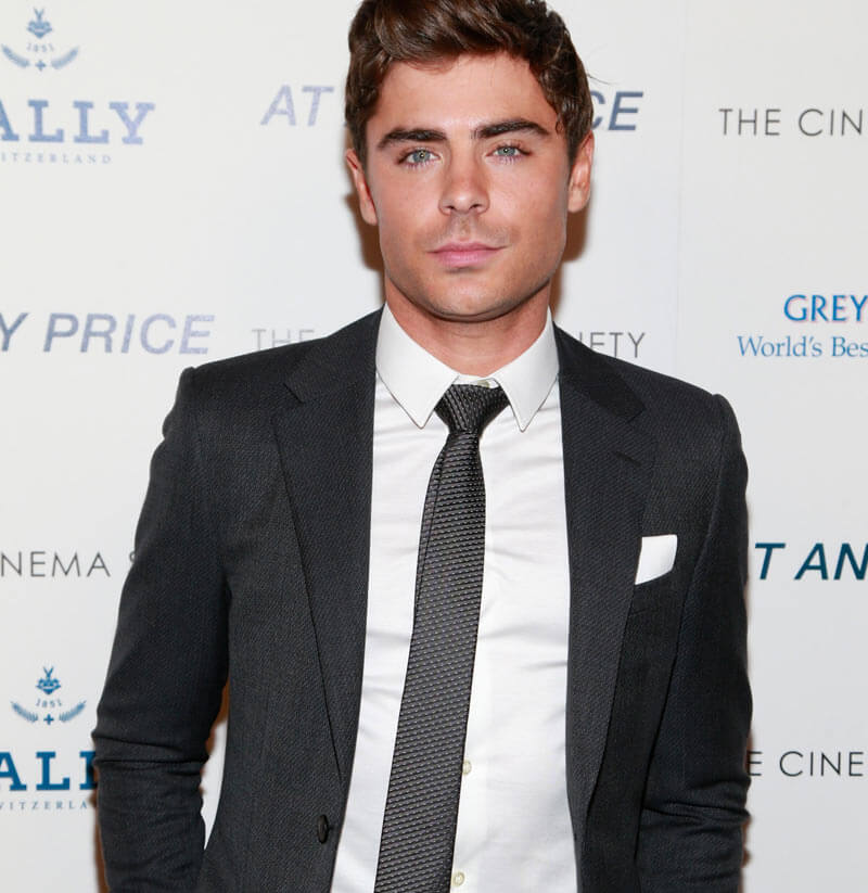 zac efron cravate