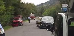 le immagini dell'incidente stradale a rubbiano