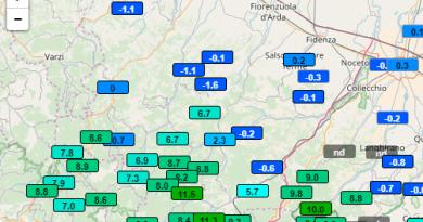 STRANO fenomeno termico oggi nel parmense: in MONTAGNA +12° pianura -1°. 13° gradi di differenza.