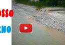 Ceno rosso. Strana colorazione dell'acqua del fiume Ceno nel primo pomeriggio.