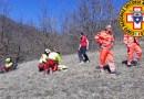 Motociclista parmigiano cade su sentiero. Trasportato all'Ospedale con l'elicottero