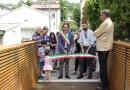MEDESANO. Inaugurazione del ponte pedonale sul rio Dordone  a S. Andrea. Intervista al sindaco