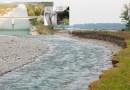 TARO a Fornovo troppa ghiaia in mezzo al fiume, danneggiata arcata ponte Oriano, erosione Osteriazza