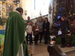 Messe en chemin des enfants et baptême de Julien