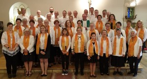 Les chorales de Hochfelden et Wilwisheim à Lucelle