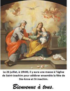 Fête de Sainte-Anne et Saint-Joachim @ Paroisse Saint-Joachim