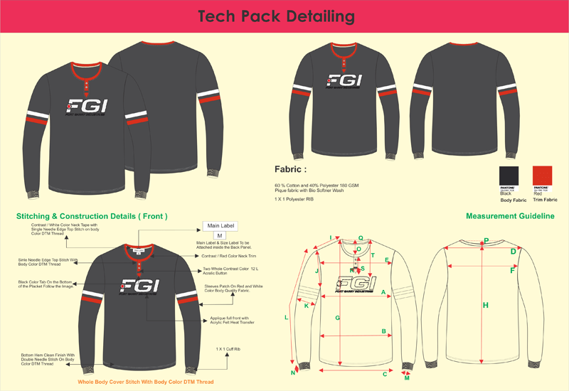 Tech-Pack-Detailing , fashion technical drawing