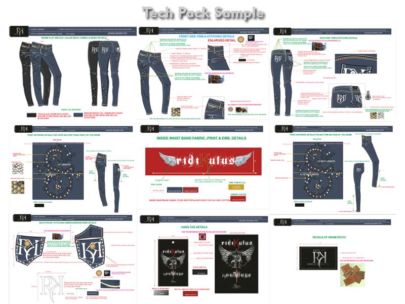 apparel tech pack design components