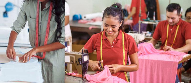 factory producing garment
