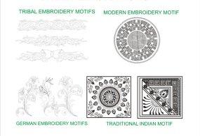 Clothing Embroidery Design  – Fashion Studio Urban Purple