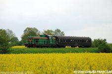 SP42-260 z pociągiem specjalnym. Fot.: Dawid Frątczak.