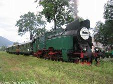 TKt48-191 z pociągiem Chabówka-Mszana Dolna 21.08.2004. Fot.: © Tomasz Żakowski .