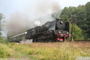 Pt47-112 z ryflakami, Rabka-Zdrój. Parowozjada'2006-przejazdy z Rabki Zarytego do Chabówki. Fot.: Henryk Mazurek.