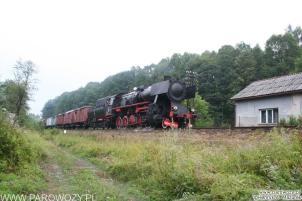 Ty2-953 z pociągiem towarowym, Rabka-Zdrój. Parowozjada'2006-przejazdy z Rabki Zarytego do Chabówki. Fot.: Henryk Mazurek.