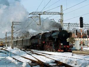 Ty42-107 z 33055 Chabówka 22.02.2015. Fot.: Łukasz Alczewski.