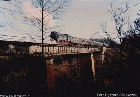 OKz32-2, jazda próbna po odbudowie. 11.01.1992. Fot.: Ryszard Smulkowski.