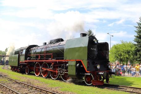 Pt47-65 z Wolsztyna podczas prezentacji parowozów. Fot.: Miłosz Mazurek