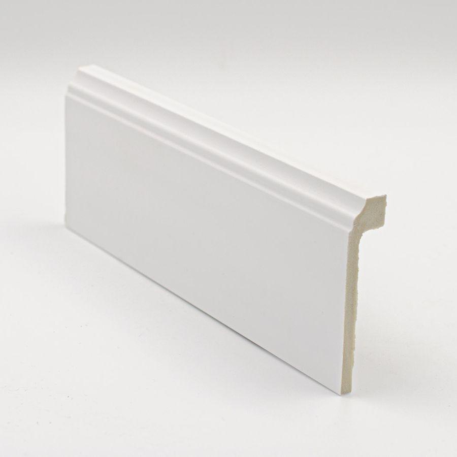 Cubre Rodapié de PVC hidrófugo blanco 10cm