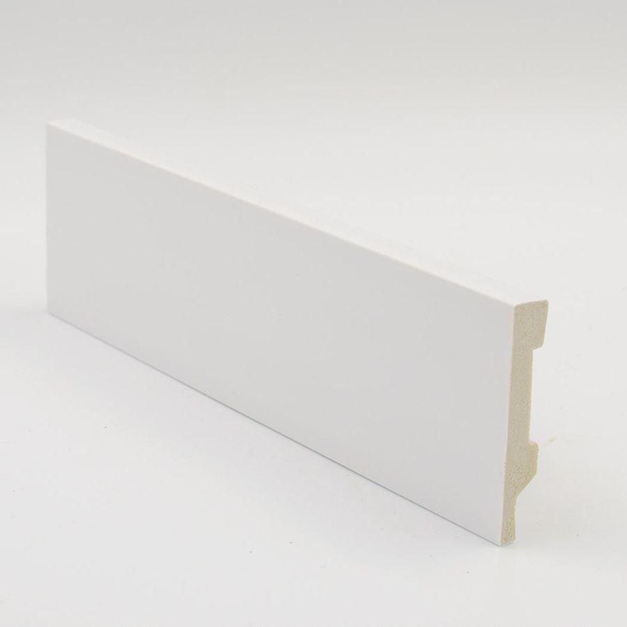 Zócalo Rodapié vinílico PVC hidrófugo blanco 8cm altura