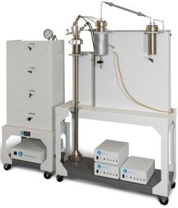 Fluidized Bed Tubular Reactor with flexible heater off