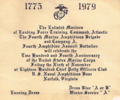 Marine Corps Ball Invitation Parrisisland Com