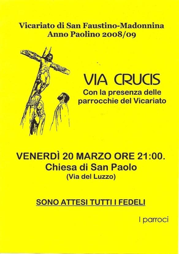 Via Crucis vicariale 2009