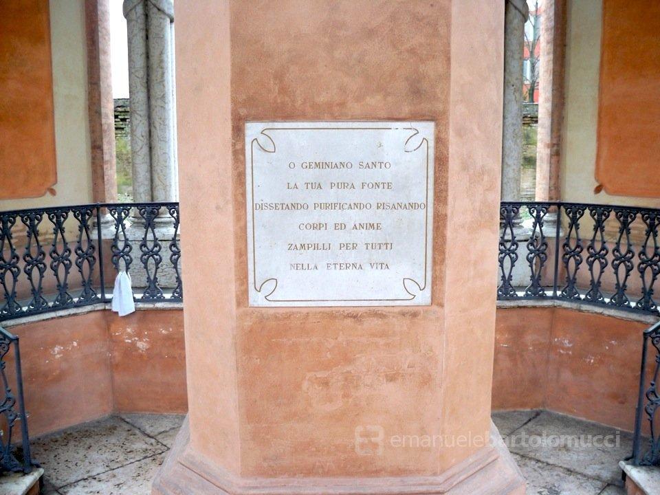 Fonte miracolosa di S. Geminiano a Cognento (Modena)