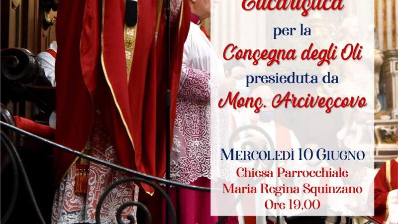 Squinzano, concelebrazione eucaristica con l'Arcivescovo.