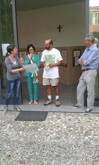 Marino Curnis accolto in Comune a Grandate