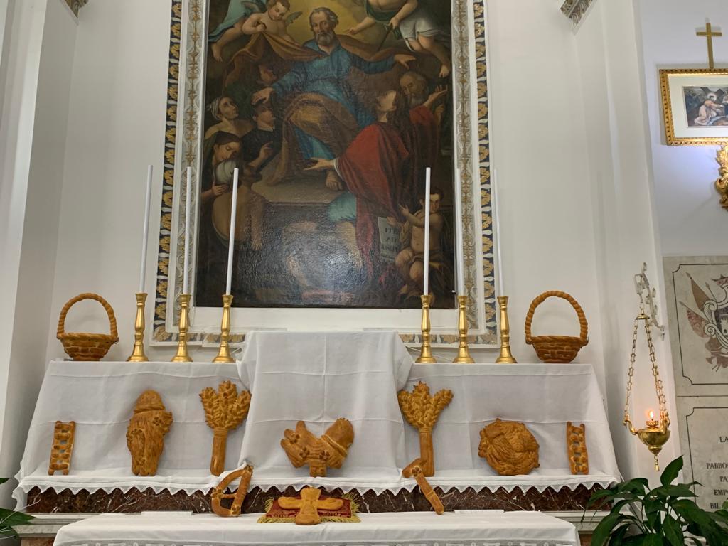ALTARE DI SAN GIUSEPPE IN TEMPO DI COVID