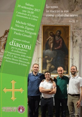 Locandina Ordinazione diaconale Zignin