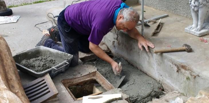 Pierabech 2017 preparazione fontana
