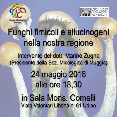 Locandina conferenza i funghi fimicoli