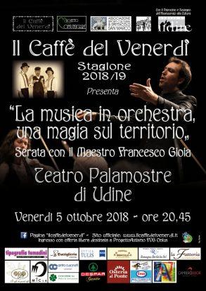 Il caffè del venerdì - Locandina 5 ottobre 2018 Francesco Gioia