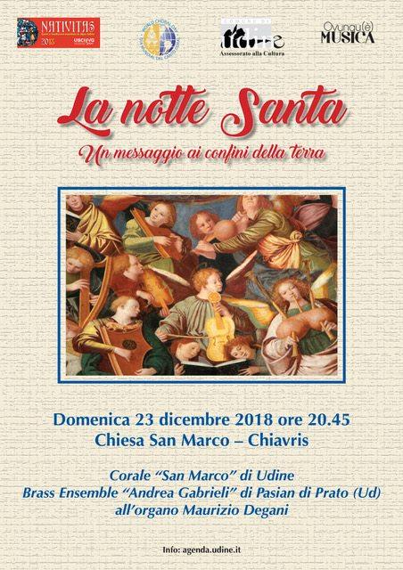 Locandina Concerto Corale san Marco 23-12-18