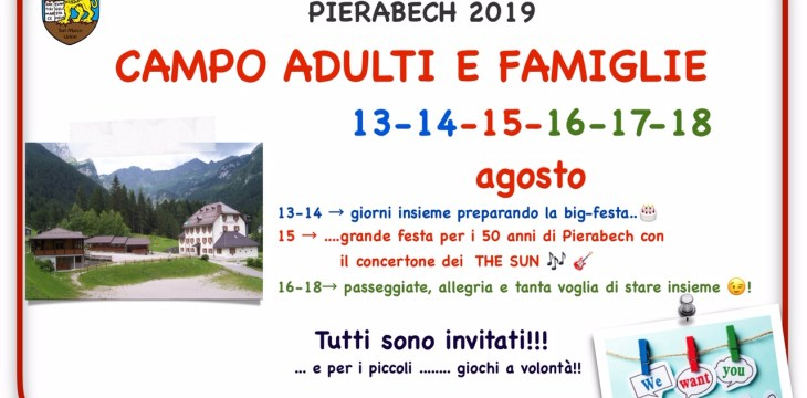 Campo adulti e famiglie 2019