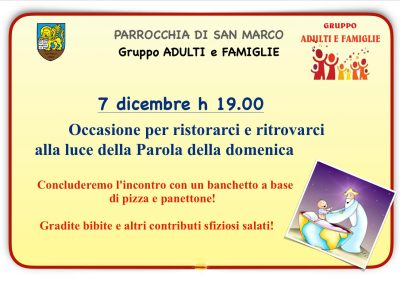 Gruppo Adulti-Famiglie 7 dic. 2019