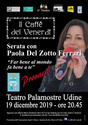 Il caffè del venerdì: Locandina serata Paola Del Zotto Ferrari