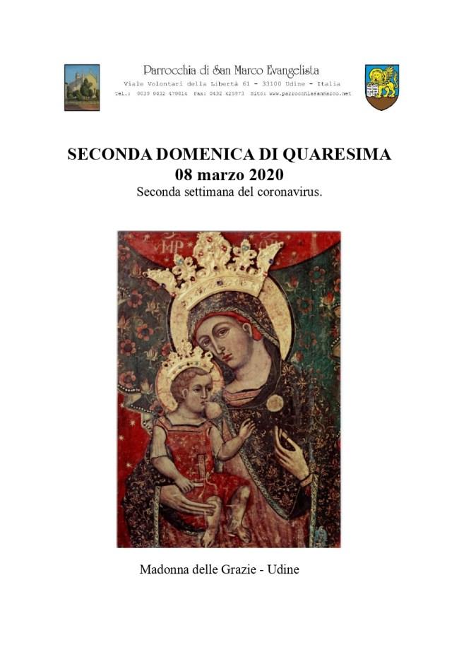 2a domenica di Quaresima coronavirus - p.1