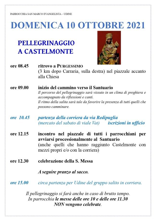 Programma pellegrinaggio a Castelmote 2021