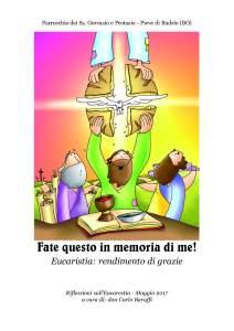 Read more about the article Eucaristia: rendimento di grazia