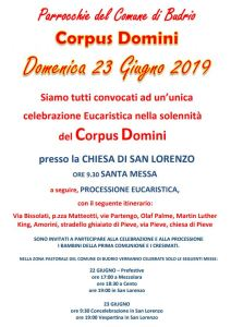 Read more about the article Corpus Domini 2019